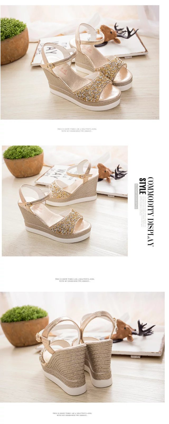 e251ade36da2 Rivets Handmade Summer Women Linen Close Toe Wedge Sandals Minimalist Mid  Heel Ladies Casual Hemp Shoes sandials mujer-in High Heels from Shoes on ...