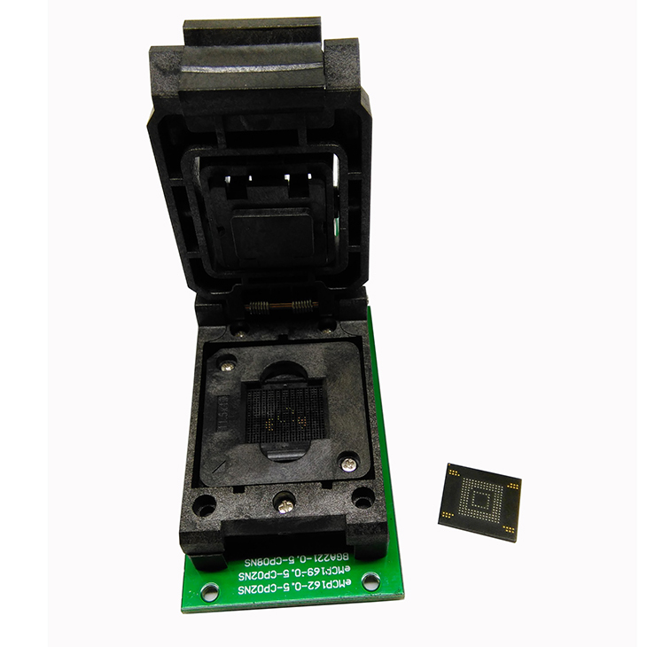 eMMC test adapter with SD Interface,with size 12*16mm,Clamshell Structure,for BGA153 and <font><b>BGA169</b></font> test <font><b>socket</b></font>,for data recovery image