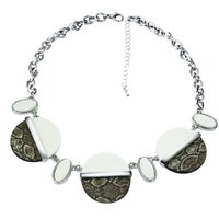 New Look Unique Design Ladies Animal Print Round Beads High Quality Resin Choker Collier Fashion Jewelry