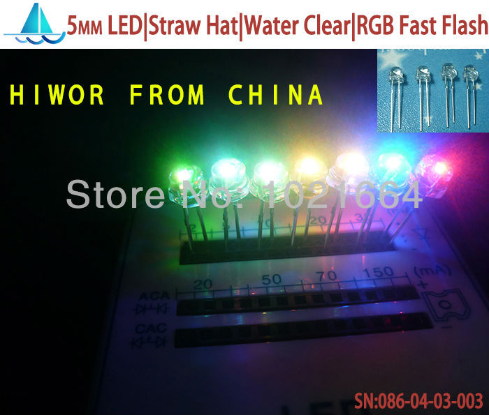 Light Emitting Diode 5mm Led,straw Hat Super Bright,water Clear Rgb Fast Flash Emitting Color led|straw Hat 5mm 200pcs/lot Imported From Abroad