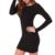 Nouveau 2016 Femmes D'été Automne Sexy Casual robe De Mode elegent Noir Robe Robes À Manches Longues Robe