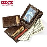 ESIPOSS Coin Purse Portomonee Removable Card Mini Wallet Men Super Thin Design Crazy Horse Vallet Men