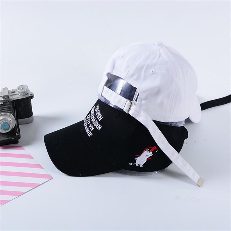 Summer Fashion Embroidery letter moomin cap Adjustable Hip Hop Snapback  Baseball Caps Men Women Fitted Trucker Hat