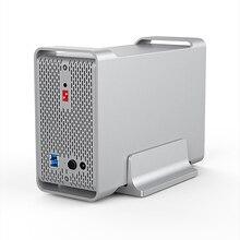 Yottamaster высокого класса двойной Bay 3.5 дюймов док-станция для HDD SATA3.0 к USB3.0 внешний HDD корпус Поддержка RAID 20 ТБ