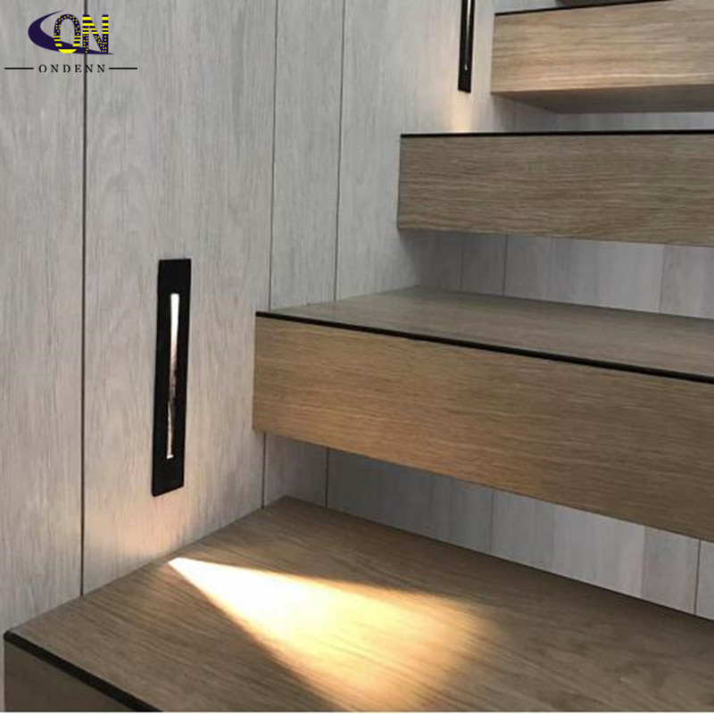 6pcs LED Wall Lamps CREE 3W Recessed Led Stair Light Indoor Corner Step Decoration Lamps Hallway