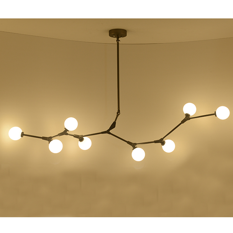 Chandelier Lindsey Globe Branching LED lamp Bubble Chandelier Modern G9 Black Gold 8 14 heads Chandelier Light Lighting F018