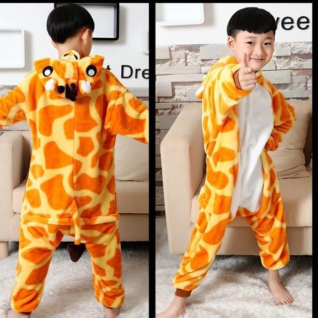 56e6b3964bb7 Cute Animal Pajamas Lovely Giraffe Onesie For Kids Funny Children Animal  Onesie Kids Fleece Onesies Pajamas