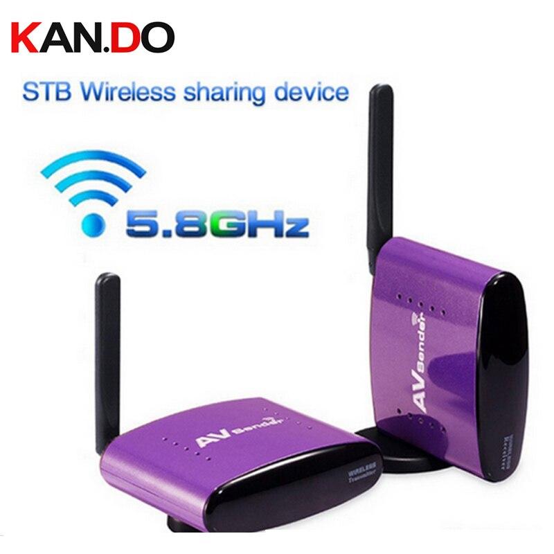 650 5.8G 300 m sans fil STB AV émetteur TV Audio vidéo émetteur et récepteur pour IPTV DVD vidéo transmission audio vidéo adaptateur