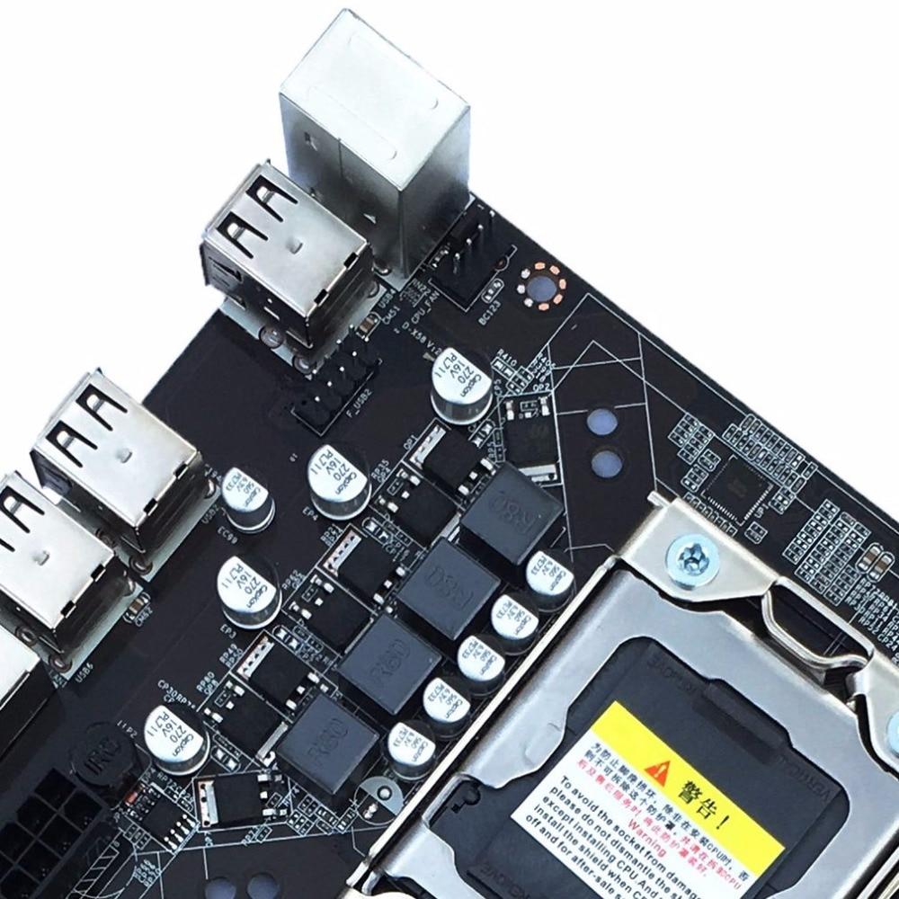 Professional Mainboard X58 Board LGA 1366 Pin ECC All Solid Motherboard Desktop Computer Support L/E5520 X5650 PCI Express X16