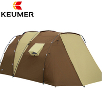 Camping tent Camel Ultralarge 6 10 12 double layer outdoor 2living rooms and family tents outdoor camping speed open throwing