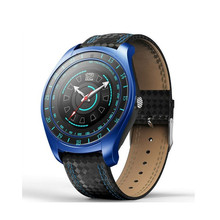 Купить с кэшбэком V10 Men Smart Watch Bluetooth Fitness Band Pedometer Heart Rate Monitor Support SIM TF Wristwatch for Android Phone