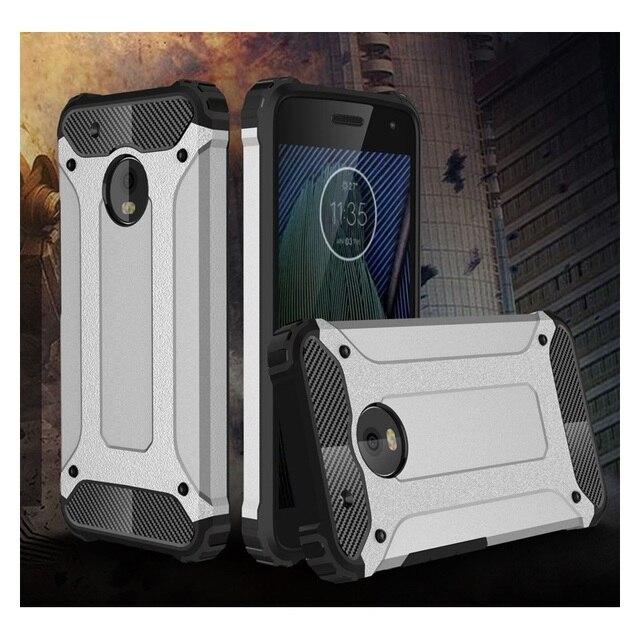 3faf15933fa Para Motorola Moto G 5 plus cubierta Fundas para móviles funda Armaduras  protector plástico + TPU