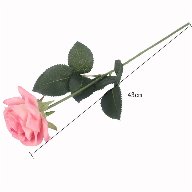 JAROWN Artificial Real Touch Hand Feel Rose Flowers For Valentine`s Day Preparation Wedding Decoration Home Decor (19)