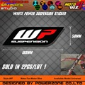 White Power WP Suspension Shock Absorber Fork Graphics Backgrounds Decals 3M Sticker Free Shipping
