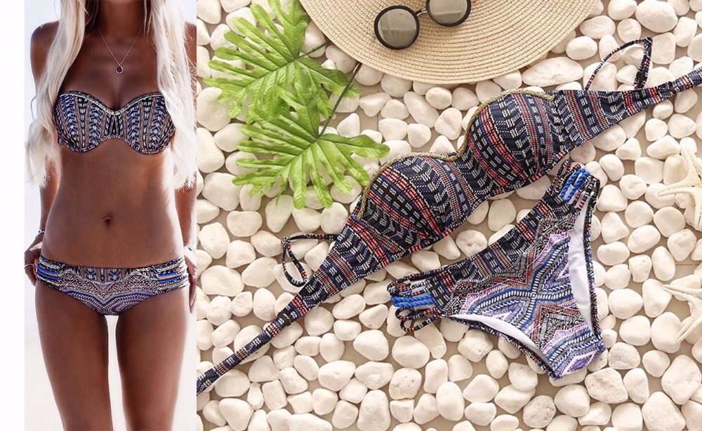 Swimwear Women Swimsuit Push Up Swimwear Female 19 Sexy Bandeau Bikini Ladies Brazilian Beach Bathing Suit bandage Bikini Set 12