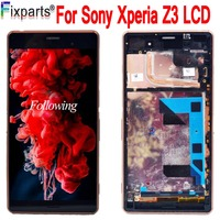 5.2 For SONY Xperia Z3 LCD Display Touch Screen Digitizer Assembly With Frame D6603 D6653 L55T For SONY Z3 LCD