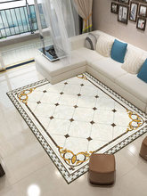 Chinese And European style living room carpet sofa coffee table mat marble pattern bedroom bedside carpet home full rectangular living room coffee table simple modern nordic style carpet home sofa rectangular machine washable bedroom bedside mat