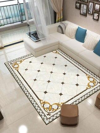 Style chinois et européen salon tapis canapé table basse tapis marbre modèle chambre chevet tapis maison pleine rectangulaire