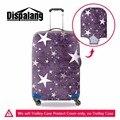 Звезда печати тележки для багажа защитные чехлы геометрическая спандекс водонепроницаемый чемодан охватывает Ясно Камера Protetor Чехол От Дождя