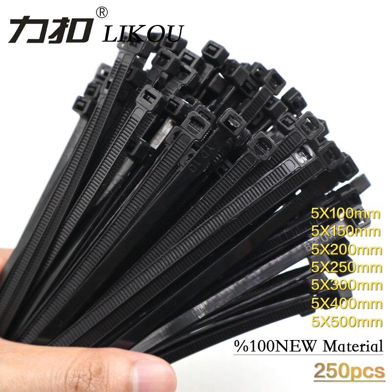 Resistentes 5 x 200 mm de Nailon resellables en 6 Colores Diferentes liberables con Cierre de Cremallera Juyuntong 600 Piezas de Bridas Reutilizables para Cables