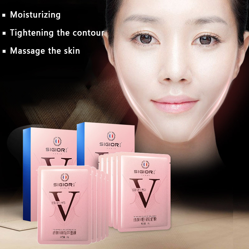 1pcs 4D  V Face Shape Tension Firming Mask Paper Slimming Eliminate Edema Lifting Firming Thin Masseter Face Care Tool TSLM1