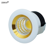 ZINUO 10pcs/Lot COB Led Downlight 3W Mini Cabinet Lamps Ceiling Spot Light With LED Driver White Warm AC85-265V