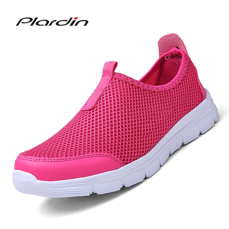 plardin 2018 woman Casual Shoes women's Fashion Solid Breathable Lazy Shoes Slip-on Comfortable Network Shoes ladies shoes swyivy women sneakers light weight 2018 41 woman casual shoes slip on lazy shoes comfortable candy color breathable net shoe