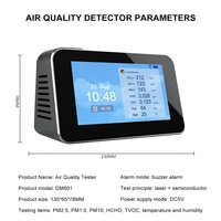 indoor air quality detector Outdoor Digital CO2 /PM2.5 / HCHO / TVOC Tester CO2 Meter Monitor Gas Analyzer Air quality monitor