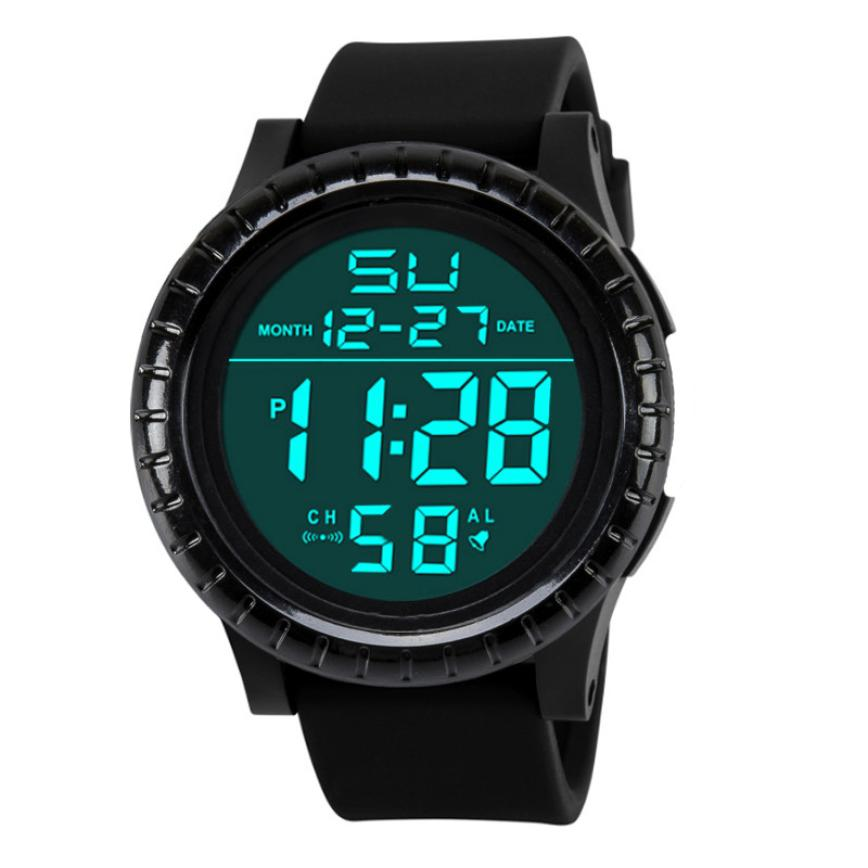 Quartz Wristwatches  Relogio Masculino  Fashion   Sport  Watch Men  Silicone  Digital Date     Watches   17NOV30 hoska hd030b children quartz digital watch