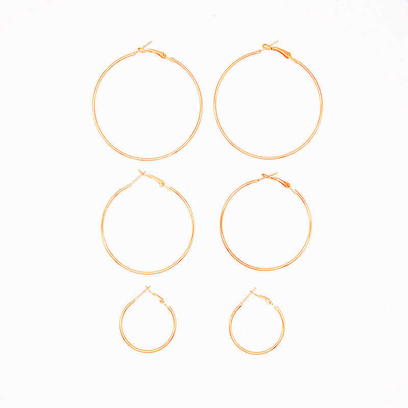 New fashion jewelry huge earring hoop 1lot = 3pairs gift for women girl E472
