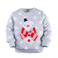 2 7T Toddler Girl Santa Pullover Coat Graphic Snowman Bowknot Santa Clothes Thick Cotton Thermal Santa Pullover Coat Kids