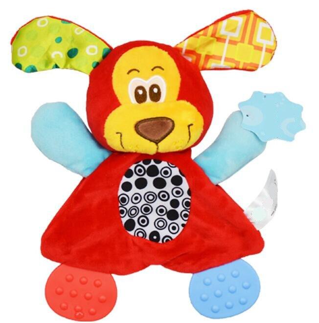 Image 4 - Sonajeros de juguete para bebé con diseño de animales de dibujos animados, sonajeros de juguete, muñeco de peluche de juguete para bebés, 20% de descuentoappease toweltowel animalcat animal -