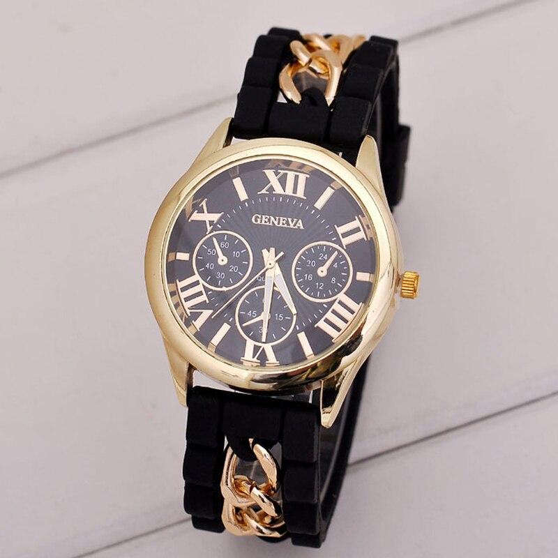 New Design Vogue Watch Women Girl Silicone Roman Numerals Quartz Wrist Watches Bracelet Dress Watch  Relogio Relojes Feminin diamond stylish watches for girls
