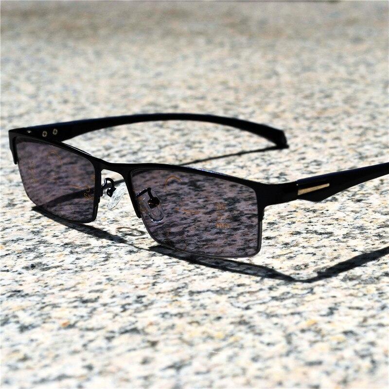 Lector Multifocal progresivo de fotocromismo ver gafas de lectura lejana y  cercana presbifocal hombres uv400 gafas b13dca995f6c