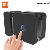 Xiaomi Шерлок F1 интегрированная Быстрозажимной отпечатков пальцев замок с Bluetooth APP дистанционного Управление для двери офиса Электрический