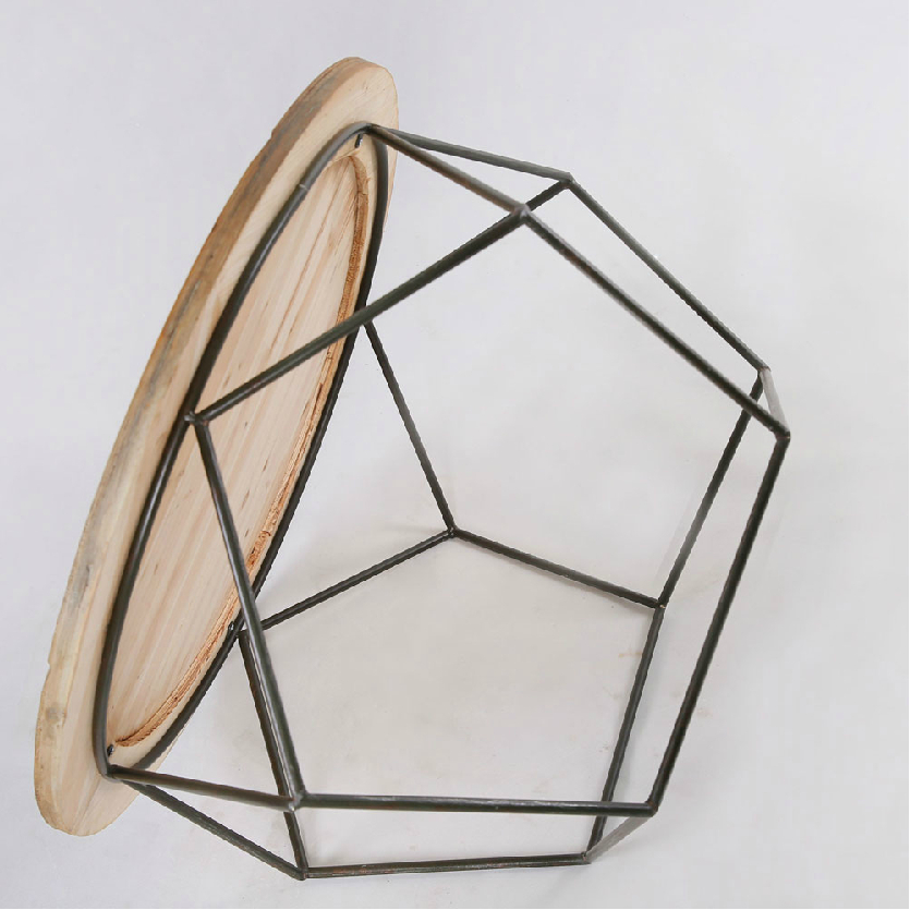 Delightful French American Modern Furniture Shipping Personality Irregular Polygon  Wooden Table Coffee Table Wrought Iron Table And Multi P In Coffee Tables  From ...