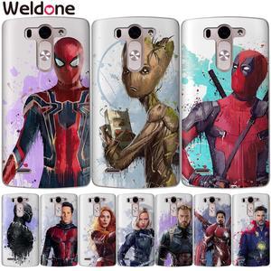 Marvel avengers casos para lg q6 g6 xpower 2 xscreen g4 g5 q8 k7 k8 k10 2017 ironman spiderman deadpool silicone caso etui capa