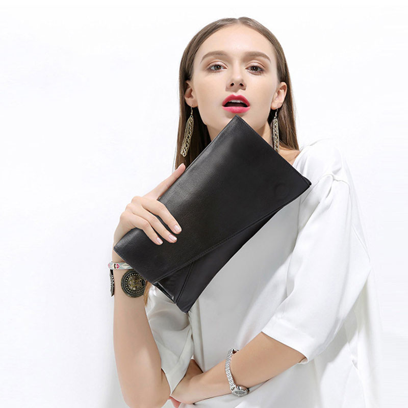 Fashion Korean Style Envelope Clutch Wallet Women Evening Purse 2018 New Genuine Leather Top Leather Crossbody Shoulder Bags free shipping genuine leather genuine leather wallet wallet men new 2013 new korean style fashion bags cheap price 1m106