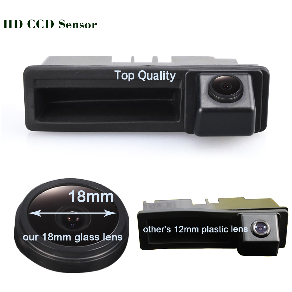 HD 1280*720 Pixels 1000TV line car rear view back up trunk handle reverse parking <font><b>camera</b></font> for <font><b>Audi</b></font> A6L Q7 A3 <font><b>A4</b></font> A6 A8 A5 S4 S6 S3 image