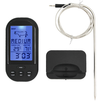 Wireless Digital Thermometer Kitchen BBQ Grill Meat Food Cooking Remote Thermometer Backlight Alarm Function 30 Off