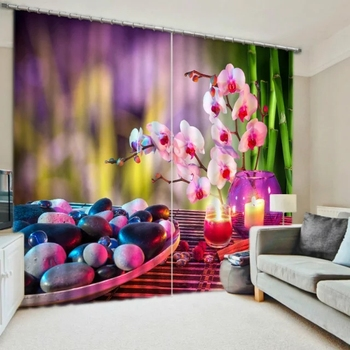 Beautiful Floral Decorative Luxury 3D Curtains for Bedding room Living room Hotel Office Drape Cortinas