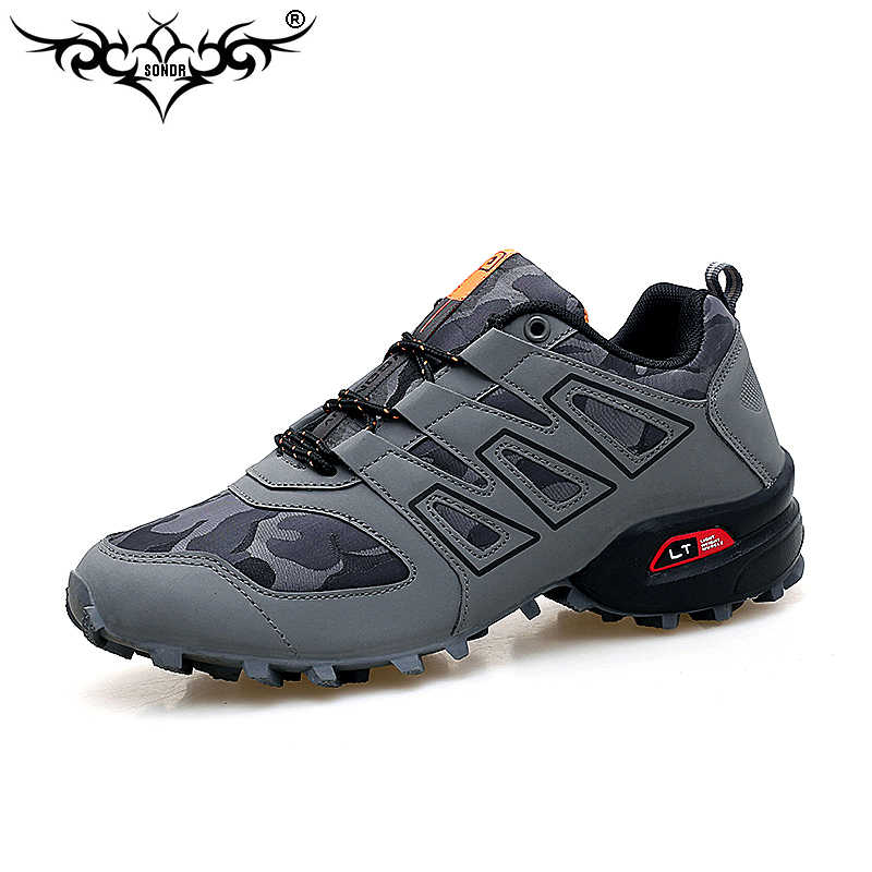 Men luminous shoes Solomon series explosion-proof sneakers shoes chaos large size outdoor shoes non-slip off-road sports shoes