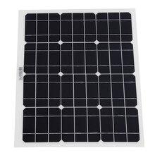 30W 12V/5V DC Solar Panel Battery USB For Phone Light Car Charger Waterproof Home Solar System