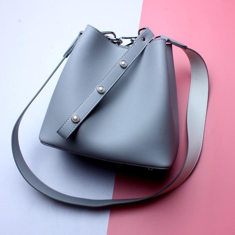 L7030 New Fashion 2017 Women Handbag joker Clench Bucket Bag Female Shoulder Bag