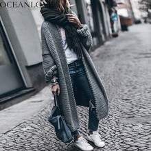 OCEANLOVE Solid Thick Batwing Sleeve Cardigan 2018 Autumn Winter Long Women Sweater Loose Fashion Knitting Chaqueta Mujer 10181