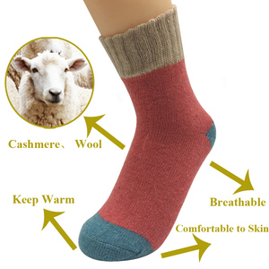 Image 3 - 5 Pairs/Lot Thick Wool Socks Women Winter Cashmere Cotton Warm Socks Charming Ladies Girls Meias