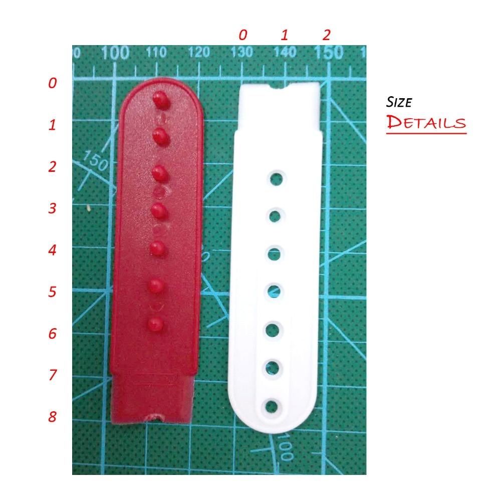 Plastique Ajustable Casquette Cap Plastique Remplacement Réparation Snap Boucle Sangle-Gris