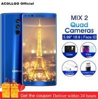 DOOGEE MIX 2 6GB 128GB Mobile Phone MTK Helio P25 Octa Core 5.99FHD+ 18:9 Four Camera 16MP 13MP Android 7.1 OTA Fingerprints