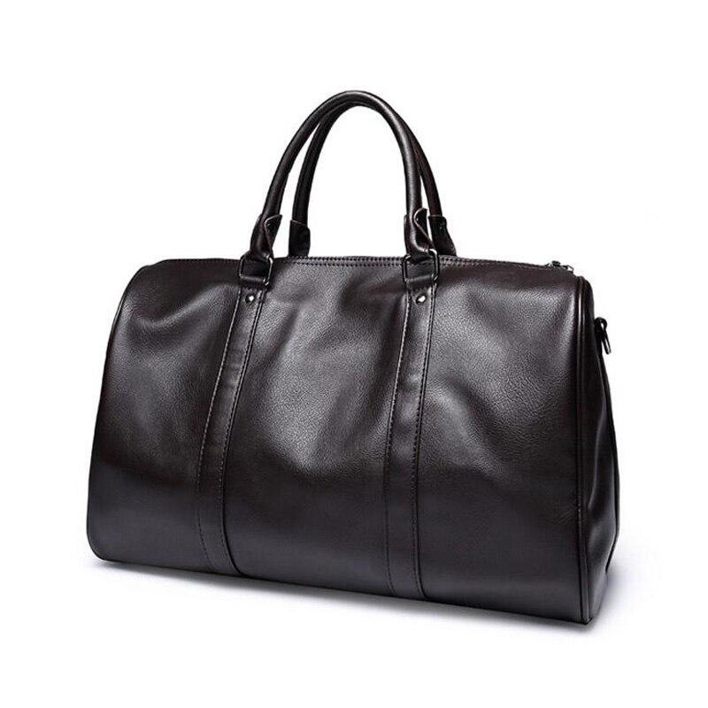 Ringad pingvin mode läder mäns rese väska bagage väska manar bär - Väskor för bagage och resor - Foto 2