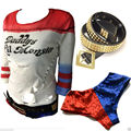 Harley Quinn Baseball Tshirt Sequins Shorts Bat Suicide Squad Wood Halloween Accerssories Cosplay Costume